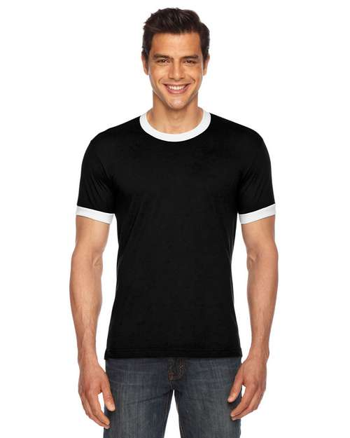 American Apparel BB410W Unisex Poly-Cotton Ringer T-Shirt