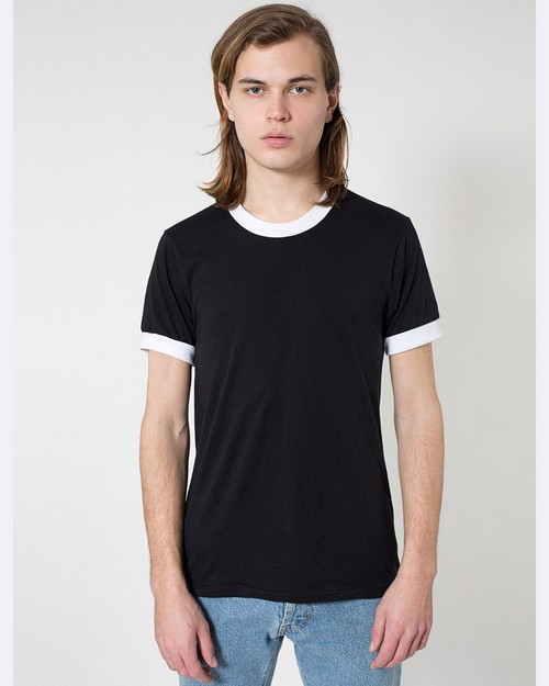 American Apparel BB410 Unisex Poly-Cotton Ringer T-Shirt