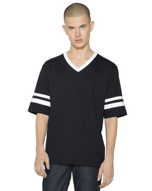 American Apparel BB4481W Unisex Poly-Cotton Football T-Shirt