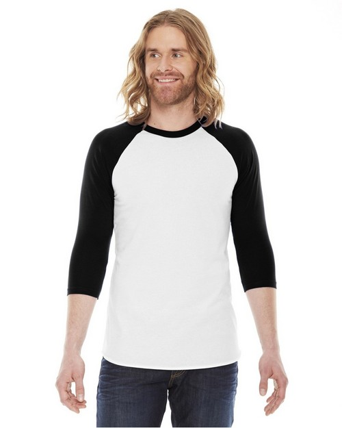 American Apparel BB453 Unisex Poly-Cotton Baseball Raglan Tee