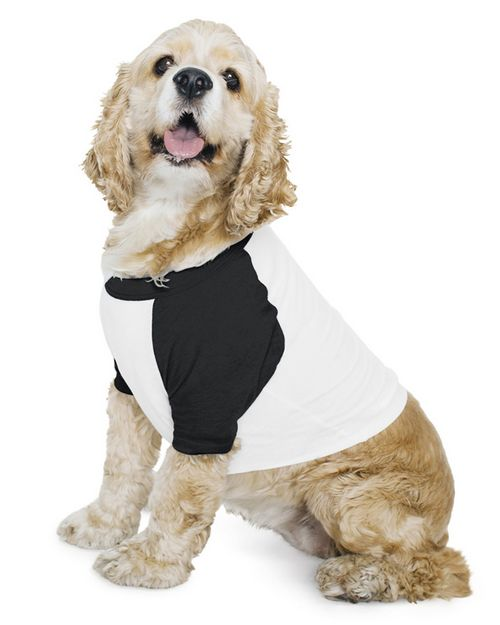 American Apparel BB953W Poly-Cotton Raglan Dog T-Shirt