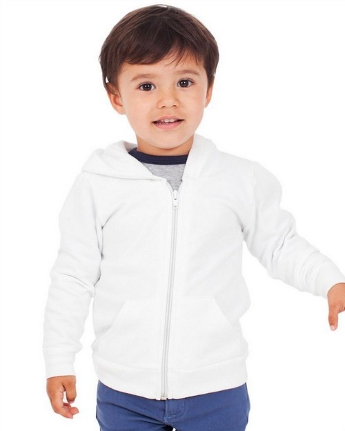 American Apparel F197 Drop Ship Toddler Flex Fleece Zip Hoodie