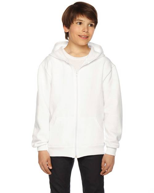 American Apparel Logo Embroidered Zip Hoodie - For Youth