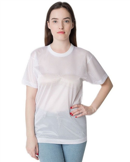 American Apparel H424 Drop Ship Poly Mesh Athletic Tee
