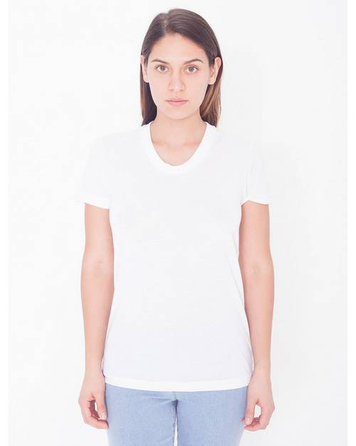 American Apparel Logo Embroidered Sublimation T-Shirt - For Women