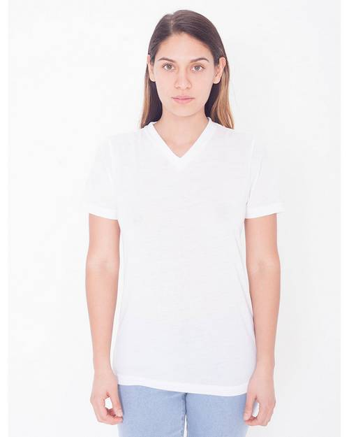 American Apparel Logo Embroidered Sublimation Classic T-Shirt - For Women