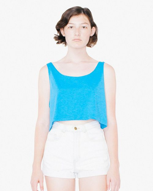 American Apparel RSABB381W Womens Poly- Cotton Loose Crop Tank Top