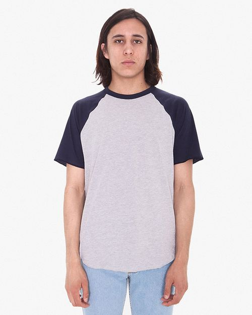 American Apparel RSABB4237W Unisex Poly-Cotton Raglan T-Shirt