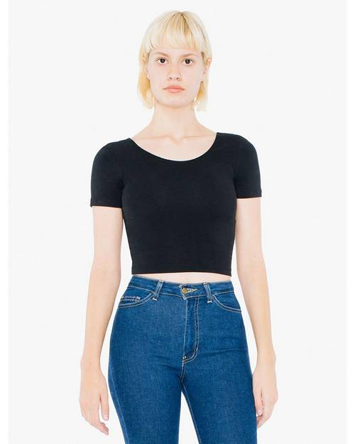 American Apparel SA8380W Ladies Cotton Spandex Crop Top