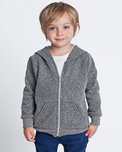 American Apparel SAMT197 Toddler Salt & Pepper Zip Hoodie