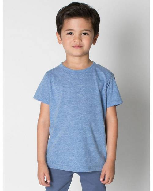 American Apparel Logo Embroidered Triblend Short Sleeve T-Shirt - For Toddler