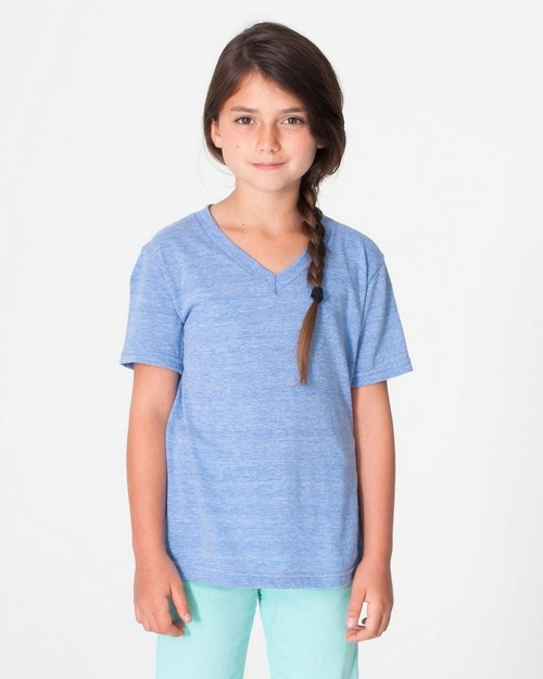 American Apparel TR156 Drop Ship Toddler Tri-Blend V-Neck Tee