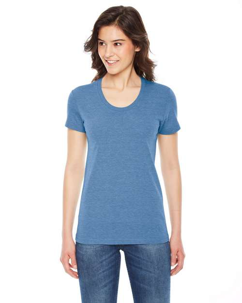 American Apparel TR301W Ladies Triblend Short-Sleeve Track T-Shirt