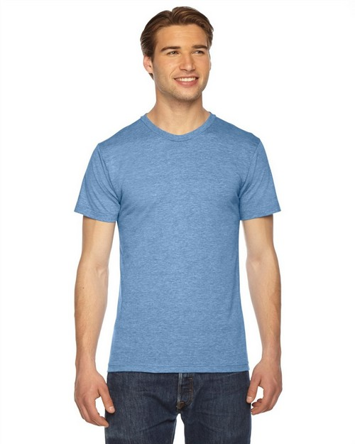 American Apparel TR401 Unisex Triblend Short-Sleeve Track T-Shirt