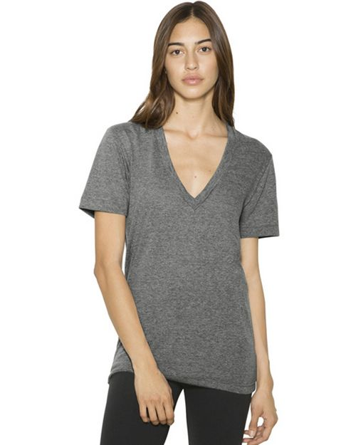 American Apparel TR456W Unisex Tri-Blend Deep T-Shirt