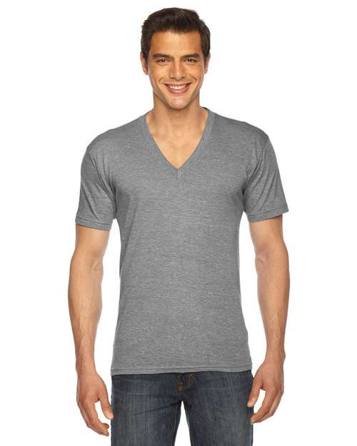 American Apparel TR461W Unisex Triblend Short-Sleeve V-Neck T-Shirt