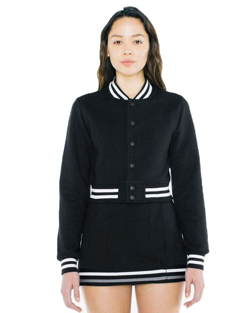 American Apparel VT3529W Ladies Heavy Terry Cropped Club Jacket