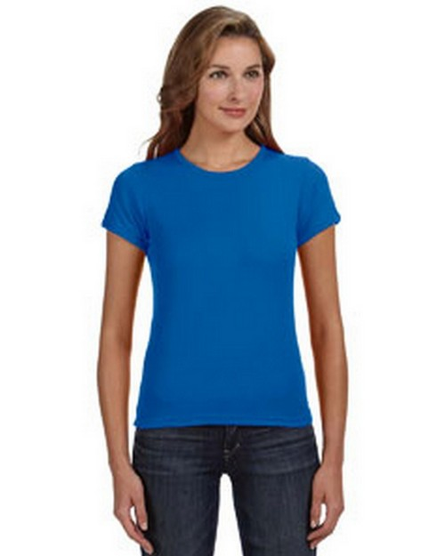 Anvil 1441 Ringspun 1x1 Ribbed Scoop Neck T-Shirt