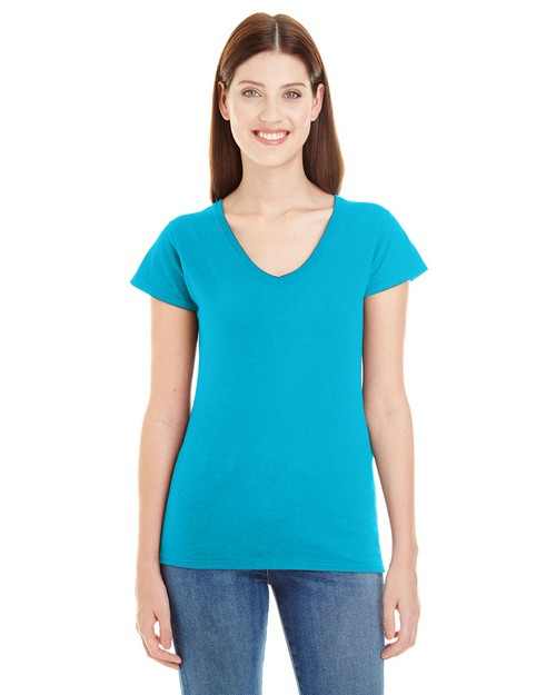 Anvil 380VL Lightweight Ladies Fitted V-Neck Tee