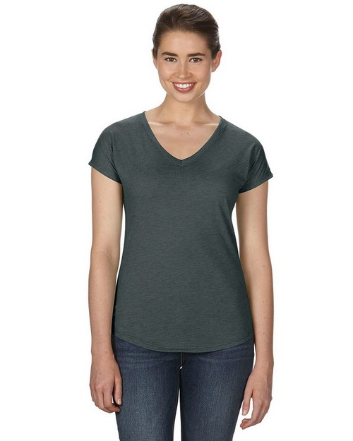 Anvil 6750VL Ladies Triblend V-Neck T-Shirt
