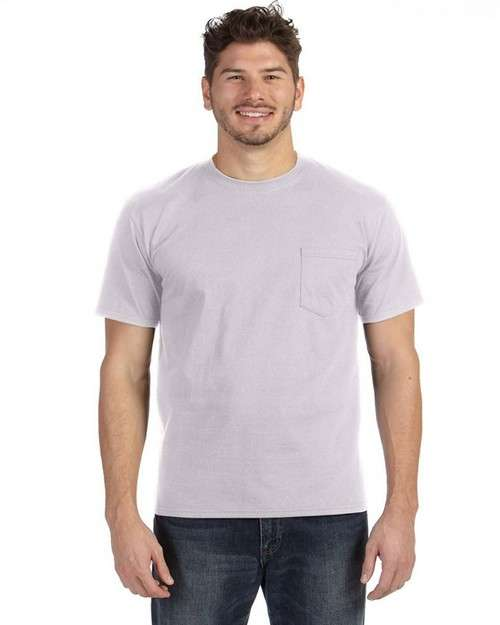 Anvil 783 Adult Midweight Cotton Pocket Tee