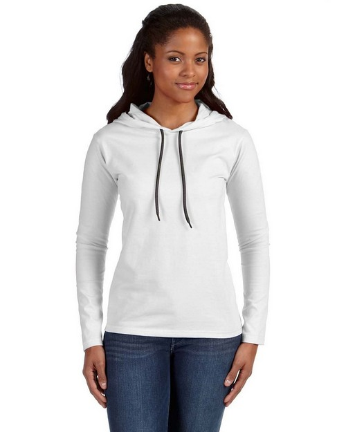 Anvil 887L Ladies Ringspun Long Sleeve Hooded T Shirt