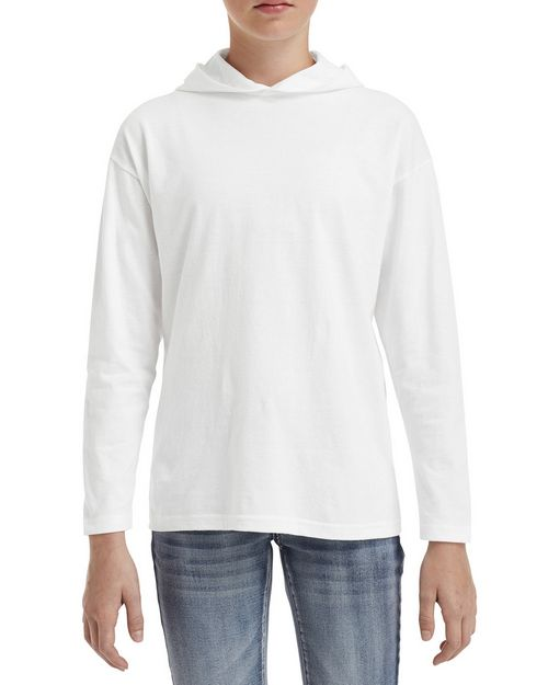 Anvil 987B Youth Long-Sleeve Hooded T-Shirt