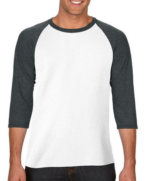 Anvil A6755 Adult Tri-Blend 3/4-Sleeve Raglan T-Shirt