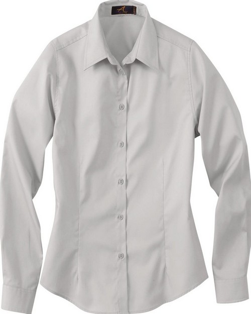 Ash City 77014 Ladies' Long Sleeve Shirt With Teflon