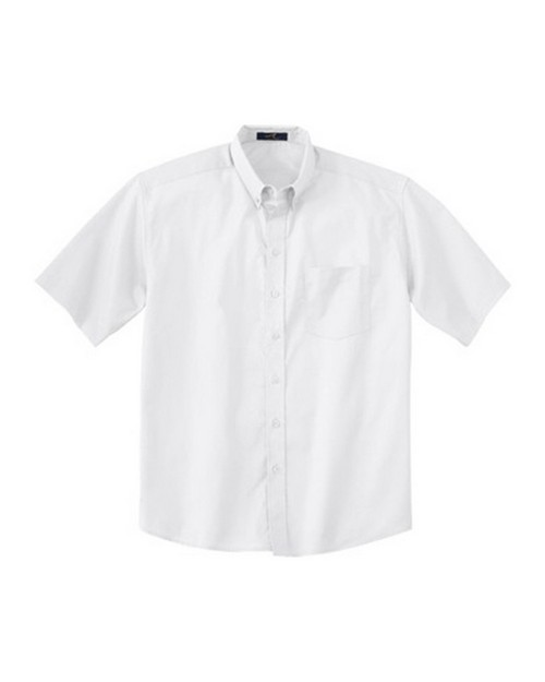 Ash City 87016T Men's Tall Short Sleeve Easy Care Twill Shirt