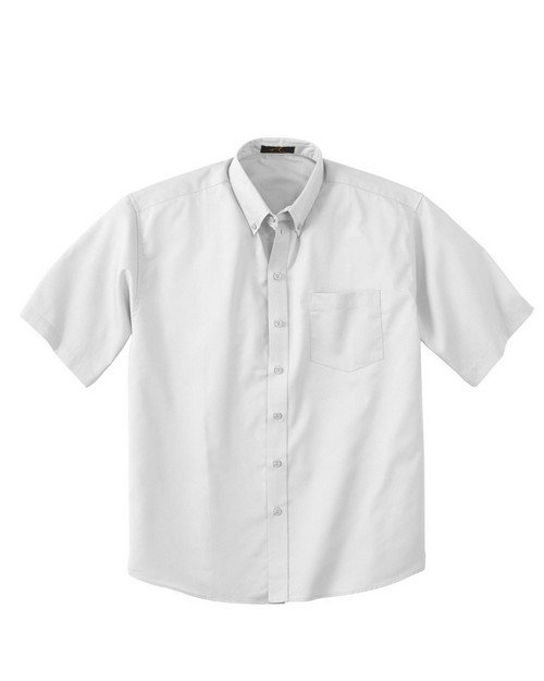 Logo Embroidered Ash City 87023 Men's Short Sleeve Shirt With Teflon