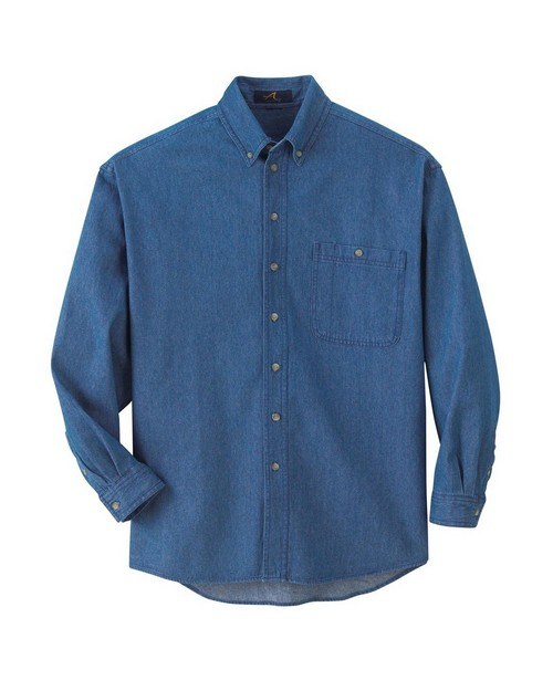 Ash City 88035 Men's Denim Button Down Long Sleeve Shirt