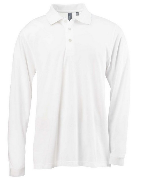 Ashworth 1352 Men's EZ Tech Long-Sleeve Polo