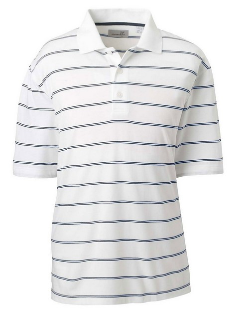Ashworth 2038C Men's High Twist Cotton Tech Stripe Polo