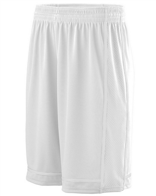 Augusta Sportswear 1185 Adult Wicking Polyester Shorts with Mesh Inserts