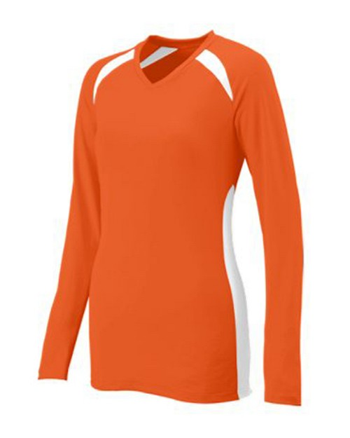 Augusta Sportswear 1305 Ladies Long Sleeve Mesh Spike Jersey