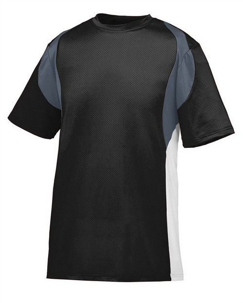 Augusta Sportswear 1515 Adult Wicking Poly/Span Short-Sleeve Jersey with Contrast Inserts