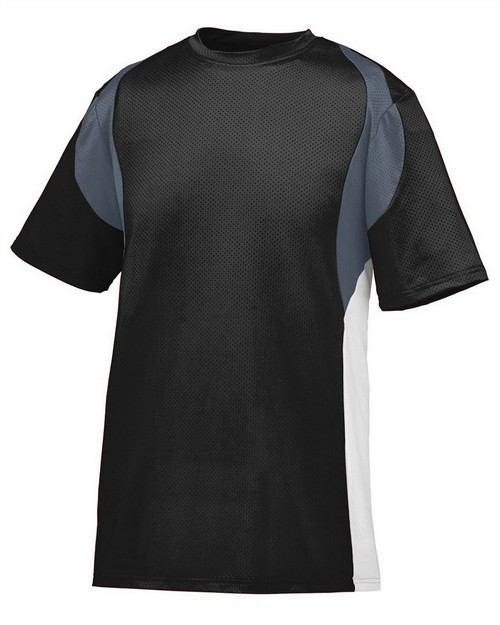 Augusta Sportswear 1516 Youth Wicking Poly/Span Short-Sleeve Jersey with Contrast Inserts