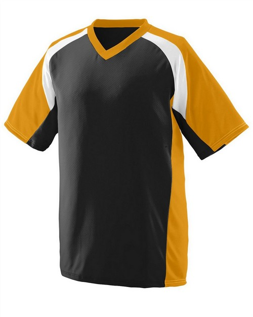 Augusta Sportswear 1535 Adult Wicking Polyester V-Neck Short-Sleeve Jersey with Inserts