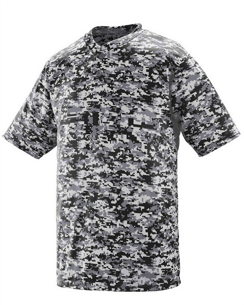 Augusta Sportswear 1555 Adult Two-Button Short-Sleeve Jersey