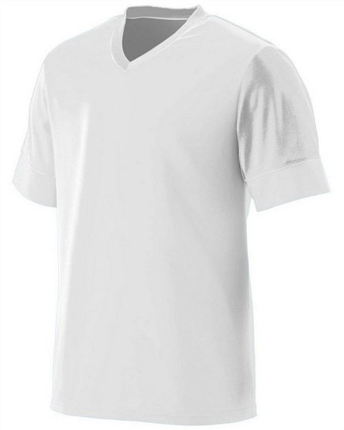 Augusta Sportswear 1601 Youth Wicking Polyester V-Neck Jersey with Contrast Sleeves