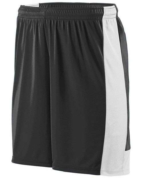 Augusta Sportswear 1605 Adult Wicking Polyester Short with Contrast Inserts