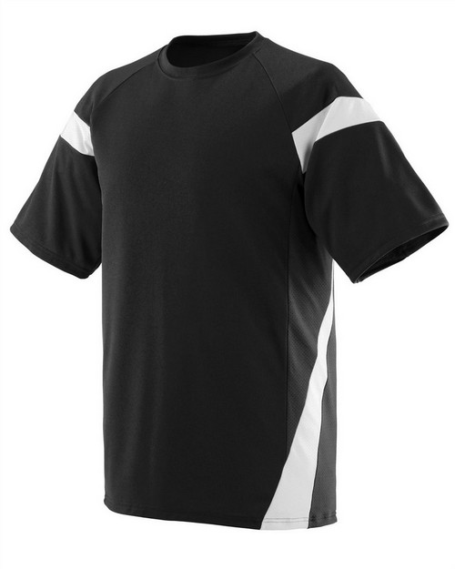 Augusta Sportswear 1611 Youth Wicking Polyester Jersey with Contrast Short Sleeves