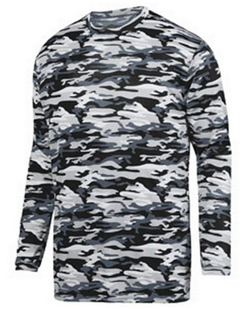 Augusta Sportswear 1807 Adult Mod Camo Long-Sleeve Wicking Tee