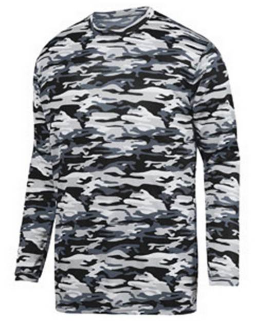 Augusta Sportswear 1808 Youth Mod Camo Long-Sleeve Wickng Tee