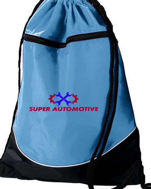 Augusta Sportswear 1920 Tri-Color Drawstring Backpack