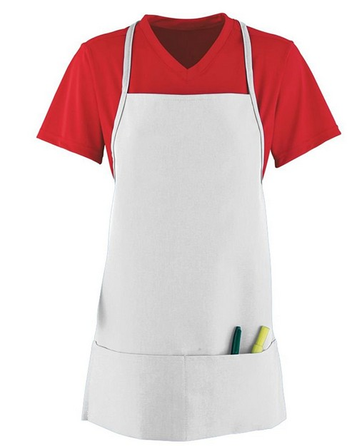 Augusta Sportswear 2060 Poly/Cotton Medium Apron with Pouch