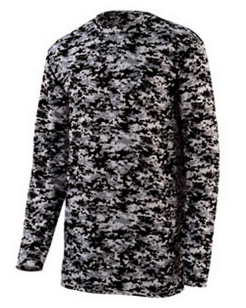 Augusta Sportswear 2788 Adult Digi Camo Wicking Long-Sleeve T-Shirt
