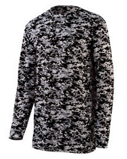 Augusta Sportswear 2789 Youth Digi Camo Wickng Long-Sleeve T-Shrt