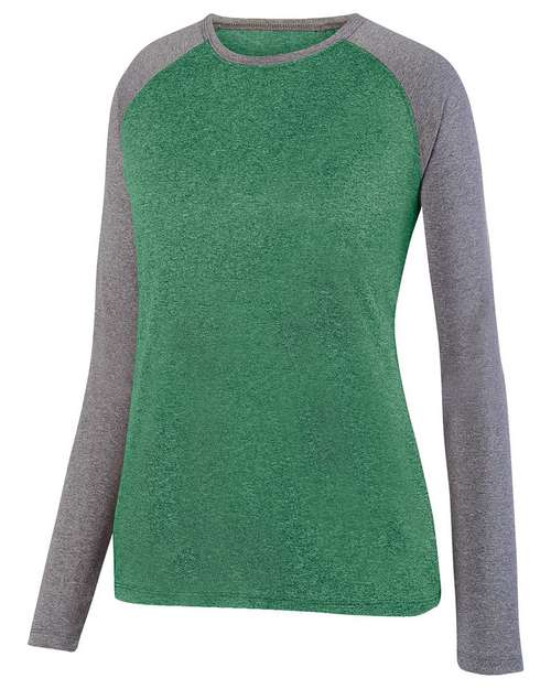 Augusta Sportswear 2817 Ladies Kinergy Two Color Long Sleeve Raglan T-Shirt